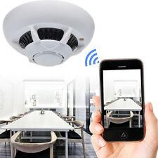 IP Camera Smoke Detector Wireless WIFI Alarm Home Security System Spy Hidden Cam
