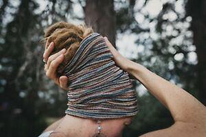 Large Dreadlock Tube Sock Headband   Cotton Dread Accessories   Hippie Hair  