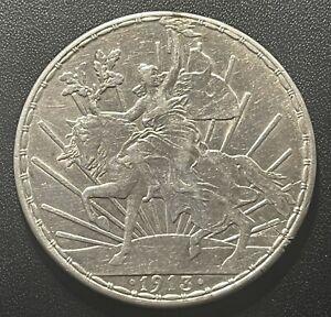 Mexico 1913 Peso Silver Coin:  Caballito