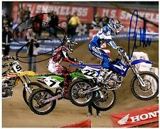 "CHAD REED & JAMES ""BUBBA"" STEWART dual Signed SUPERCROSS Motocross 8x10 Photo J"