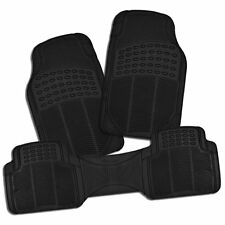 Zone Tech 3Pc Heavy Duty Car Black Floor Mat All-Weather Rubber Material