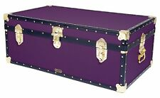 "PURPLE Traditional Mossman 36"" Steamer Boarding School Luggage Trunk 36""x20""x14"""