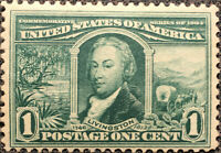 Scott #323 US 1904 1 Cent Robert Livingston Postage Stamp