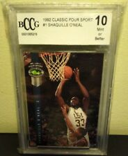 1992 Classic Four Sport #1 Shaquille O'Neal RC Rookie Card GemMT 10 GRADE GUYS