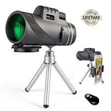 Hd Monocular Starscope Telescope Phone Camera Zoom with Tripod & Remote Control