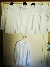 BNWOT Next White Long Sleeve School Shirts 5 Pack Age 12 Slim RRP £26
