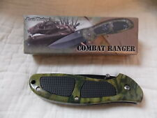 "Combat Ranger 5"" Folding Lockback Thumb Stud Black Ss Blade W/Camoflage Handle"