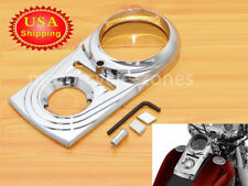 Chrome Dash Panel Insert Cover For Harley Dyna Wide Glide FXDWG Softail 93-15 US