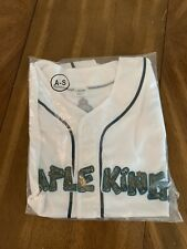 Vermont Lake Monsters Maple Kings Promo Jersey Adult Small White. New