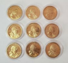 2000 to 2008 S Sacagawea One Dollar US Liberty Coin9 Coins Total
