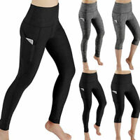 2019 Womens Sports Yoga Leggings Workout Gym Fitness Stretch Pants with Pocket