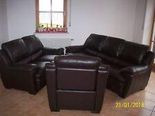 TOP Sofa Sitzgarnitur Echtleder (3 Teile)