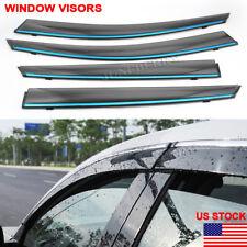 Window Visor Chrome 2018-19 For Honda Accord Sedan Wind Rain Guard Deflector NEW