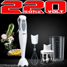 Braun MQ325 Omlette 220v Hand Blender With Chopper Whisk 220 Volt
