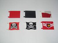 Lego ® Accessoire Drapeau 6X4 Flag Choose Color or Pattern ref 2525