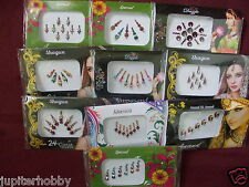 5  Different Packets- BINDIS WITH CRYSTALS ORNATE BINDI TATTO- FREE SHIPPING-2+1