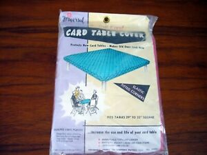 Vintage Universal Brand Card Table Cover NIP Vinyl Quilted Pink New 1970s