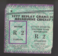 1977 Grand Final Replay Used Ticket North Melbourne vs Collingwood Kangaroos won
