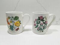 Portmeirion Botanic Garden Set of 2 Tankard/Coffee Mugs Assorted Motifs