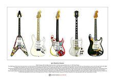 Jimi Hendrix's Guitars Limited Edition Fine Art Print A3 size