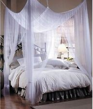 """New Bohemian Style Four-point Woven Bed Canopy 76""""x 84""""x 96"""" White Mosquito Net"""