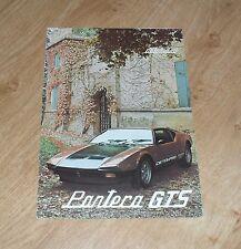 Detomaso Pantera GTS 4 Page Multilingual Brochure 1979-1980