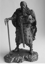 HISTORICAL TIN FIGURES VIKINGS JARL WITH SWORD AND AN AX 9 - 10 CENT. 75MM FI4