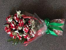 Handcrafted Dozen Money Rose bouquet  - Graduation, Wedding, Special Occasion.
