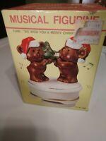 Vintage Ceramic Christmas Music Revolving Figure Pre Owned