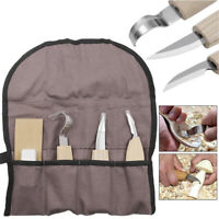Wood Carving Detail Chisel Tools 5 Pieces Kit Woodworking Whittling Tool Set