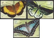 Australia 2016 Butterflies Peel & Stick (3) Used