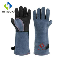 New listing Welding Gloves Mig Tig Fire Resistant Safety Protection Gloves Oven Bbq Gloves