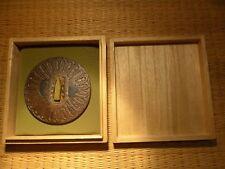 Fino Antiguo Samurai japonés Tsuba espada Edo Katana 200/300 años de edad Shakudo