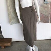 Vintage Express Beige Wool Blend High Waisted Maxi Skirt K Age 13/14  / 13 / 14