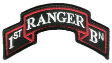 "New Wax Backed - Modern US 1st Ranger Battalion Scroll - 3 7/8"" x 2"" Merrowed"