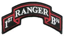 "New Wax Backed - Modern US 1st Ranger Battalion Scroll - 3 7/8"" x 2"" Merrowed"