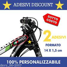 2 Nomi adesivi bici + bandiera per visiera casco moto auto adesivo