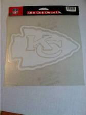 Kansas City Chiefs White 8x8 Die Cut Decal