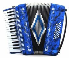 Rossetti, 3032, Piano Accordion 32 Bass, 30 Key, 3 Switch, Case & Straps BLUE