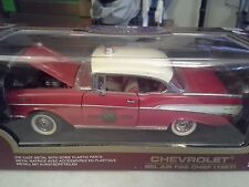 1957 CHEVROLET BEL AIR Fire Chief 1:18 Die Cast Collectible Car NIB Yat Ming