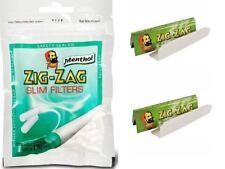 Zig Zag Pointes à Filtre Fins Menthol de 150 X 4 Sac + Zig Zag Vert 24 Carnets