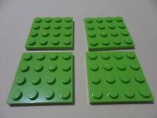Lego 4 plates vert citron set 7646 8709 41051 41017  / 4 lime plates NEW 4 x 4