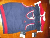 NWT Izod baby toddler lot sweater vest shirt 12 months mos. Golf Layette New!