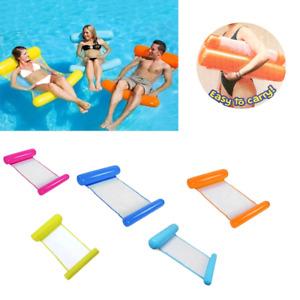 Wasserliege Wasserhängematte Luftmatratze Poolsitz Schwimmsessel Poolliege