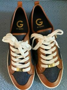 NEW GUESS Tennis shoes Mens Size 10 Leather and Denim