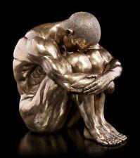 masculine statue Nu - Paillettes sur Fil de fer SOL assis - Grand - VERONESE