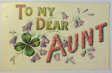 "Vintage Post Card 1910 Iowa ""To My Dear Aunt"" Posted w/ Stamp"