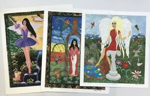 """Howard Finster's Daughter, Beverly's  """"Three """" signed prints"""