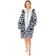 Dreamscene Oversized Zip Up Hoodie Blanket Sherpa Sweatshirt Adult, Houndstooth