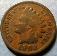 *1902  INDIAN  HEAD  BRONZE  PENNY, Nice Details Philadelphia Mint Coin  #3